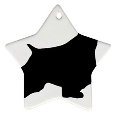 English Springer Spaniel Silo Black Ornament (Star)