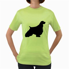 English Springer Spaniel Silo Black Women s Green T-Shirt