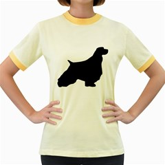 English Springer Spaniel Silo Black Women s Fitted Ringer T-Shirts