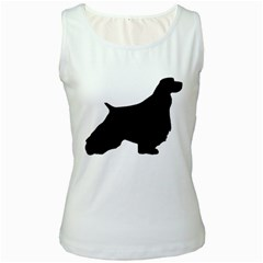 English Springer Spaniel Silo Black Women s White Tank Top