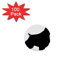 English Springer Spaniel Silo Black 1  Mini Buttons (100 pack)