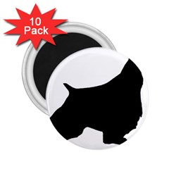English Springer Spaniel Silo Black 2.25  Magnets (10 pack)