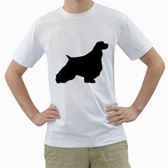 English Springer Spaniel Silo Black Men s T-Shirt (White) (Two Sided)