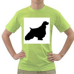 English Springer Spaniel Silo Black Green T-Shirt