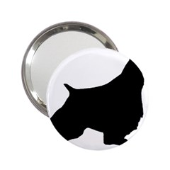 English Springer Spaniel Silo Black 2.25  Handbag Mirrors