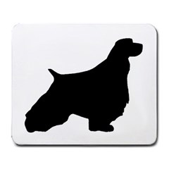English Springer Spaniel Silo Black Large Mousepads