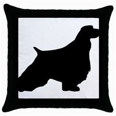 English Springer Spaniel Silo Black Throw Pillow Case (Black)