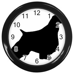 English Springer Spaniel Silo Black Wall Clocks (Black)