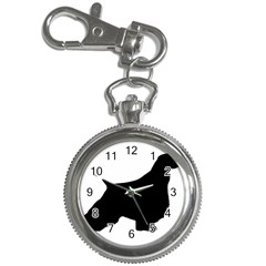 English Springer Spaniel Silo Black Key Chain Watches