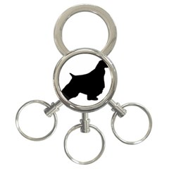 English Springer Spaniel Silo Black 3-Ring Key Chains