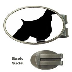English Springer Spaniel Silo Black Money Clips (Oval)