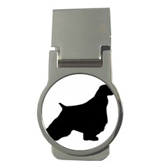 English Springer Spaniel Silo Black Money Clips (Round)
