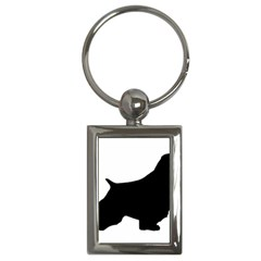 English Springer Spaniel Silo Black Key Chains (Rectangle)