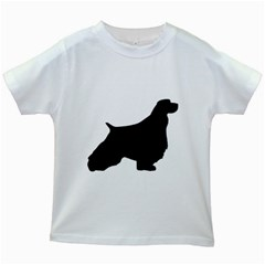 English Springer Spaniel Silo Black Kids White T-Shirts