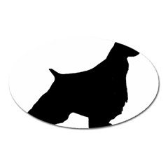 English Springer Spaniel Silo Black Oval Magnet
