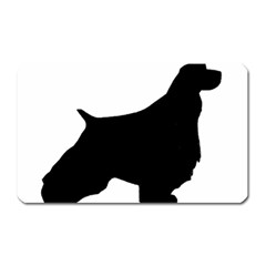 English Springer Spaniel Silo Black Magnet (Rectangular)