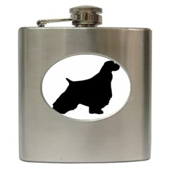 English Springer Spaniel Silo Black Hip Flask (6 oz)
