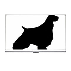 English Springer Spaniel Silo Black Business Card Holders