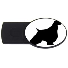 English Springer Spaniel Silo Black USB Flash Drive Oval (2 GB)