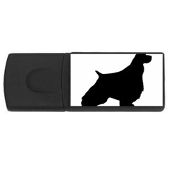 English Springer Spaniel Silo Black USB Flash Drive Rectangular (1 GB)