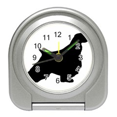 English Springer Spaniel Silo Black Travel Alarm Clocks