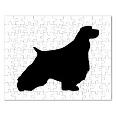 English Springer Spaniel Silo Black Rectangular Jigsaw Puzzl