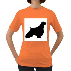 English Springer Spaniel Silo Black Women s Dark T-Shirt
