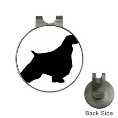 English Springer Spaniel Silo Black Hat Clips with Golf Markers