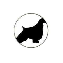 English Springer Spaniel Silo Black Hat Clip Ball Marker (4 pack)