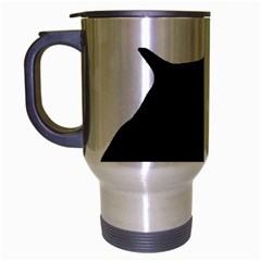 English Springer Spaniel Silo Black Travel Mug (Silver Gray)