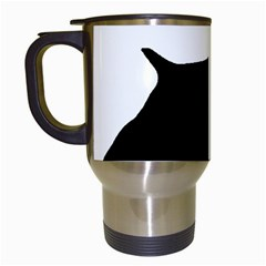 English Springer Spaniel Silo Black Travel Mugs (White)