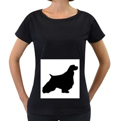 English Springer Spaniel Silo Black Women s Loose-Fit T-Shirt (Black)