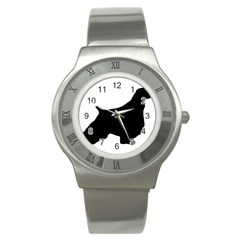 English Springer Spaniel Silo Black Stainless Steel Watch