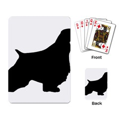 English Springer Spaniel Silo Black Playing Card