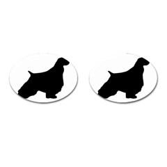 English Springer Spaniel Silo Black Cufflinks (Oval)