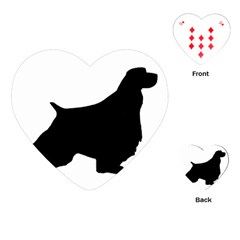 English Springer Spaniel Silo Black Playing Cards (Heart)