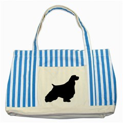 English Springer Spaniel Silo Black Striped Blue Tote Bag