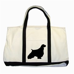 English Springer Spaniel Silo Black Two Tone Tote Bag