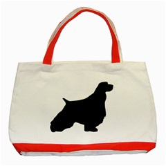 English Springer Spaniel Silo Black Classic Tote Bag (Red)