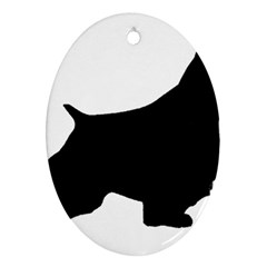 English Springer Spaniel Silo Black Oval Ornament (Two Sides)