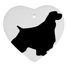 English Springer Spaniel Silo Black Heart Ornament (Two Sides)