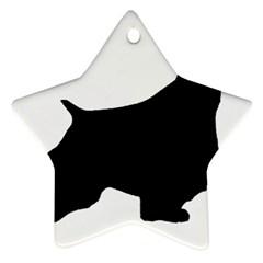 English Springer Spaniel Silo Black Star Ornament (Two Sides)