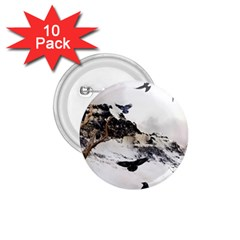 Birds Crows Black Ravens Wing 1.75  Buttons (10 pack)