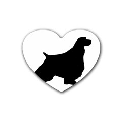 English Springer Spaniel Silo Black Rubber Coaster (Heart)