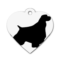 English Springer Spaniel Silo Black Dog Tag Heart (Two Sides)