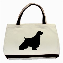 English Springer Spaniel Silo Black Basic Tote Bag (Two Sides)