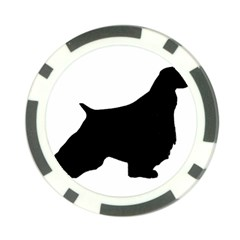 English Springer Spaniel Silo Black Poker Chip Card Guard
