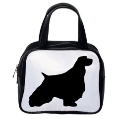 English Springer Spaniel Silo Black Classic Handbags (One Side)