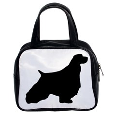 English Springer Spaniel Silo Black Classic Handbags (2 Sides)