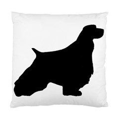 English Springer Spaniel Silo Black Standard Cushion Case (Two Sides)